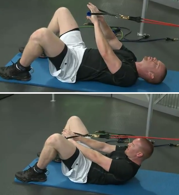 resistance band ab exercises
