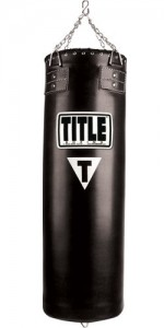 Title Synthetic Leather Heavy Bag