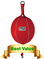 Title Boxing Classic 8-Ball Dual Bladder Leather Double End Bag Black//Red