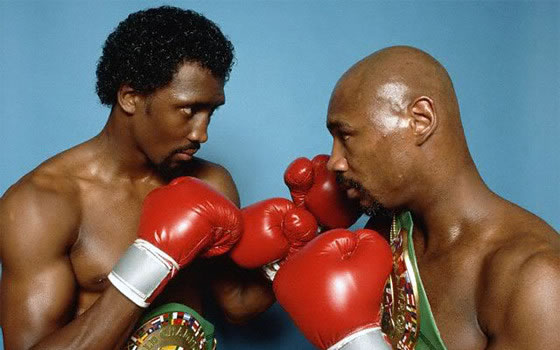 Tommy Hearns and Marvin Hagler
